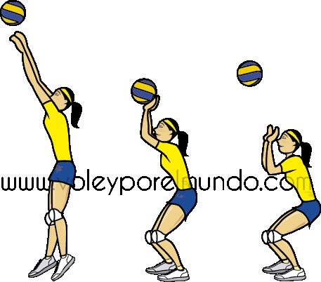 saque por arriba el voleibol